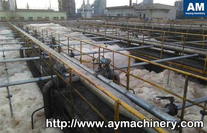 alkali treatment of paper pulping waste water