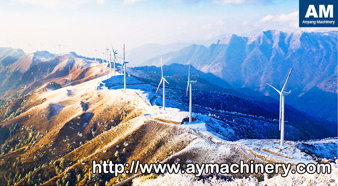 mountaintop wind power plant